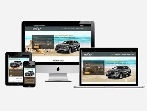 Car rental agency website creation